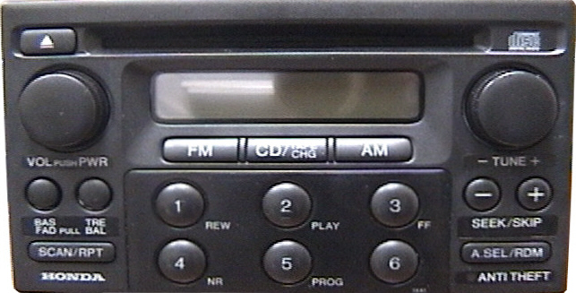 How To Enter Honda Radio Code >> Honda Accord Car Stereo CD Changer Repair and/or add an ...